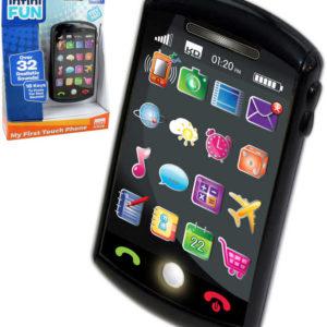 Smartphone dotykový dětský baby telefon 12cm na baterie Světlo Zvuk plast