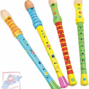 WOODY DŘEVO Flétna dětská 33cm barevná *DŘEVĚNÉ HRAČKY*