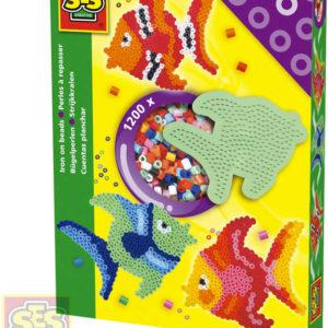 SES CREATIVE Korálky zažehlovací ryba kreativní set 1200ks s podložkou