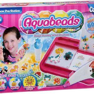 Aquabeads kreativní set korálky 600ks s podložkami a šablonami spojování vodou