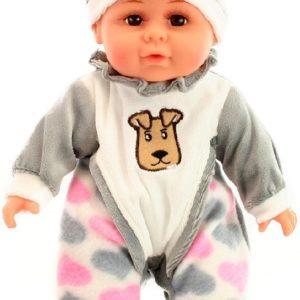 Panenka 30cm miminko holčička v pyžámku měkké tělíčko v sáčku Zvuk