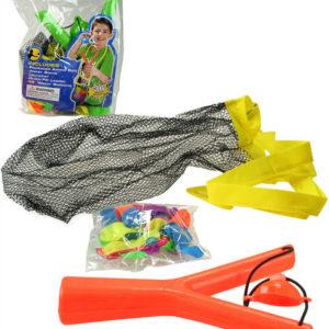 Set prak plastový + vodní bomby 38ks s doplňky do vody v sáčku 2 barvy