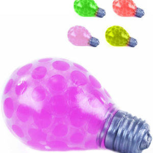 Žárovka antistresová mačkací míček kuličkami 5 barev
