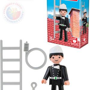 EFKO IGRÁČEK Kominík figurka 7,5cm s doplňky v krabičce STAVEBNICE