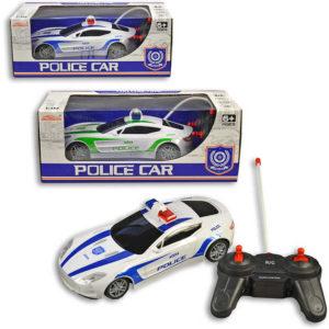 RC Auto policejní 21cm na dálkové ovládání na baterie 2 barvy plast Světlo