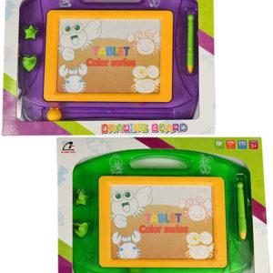 Tabulka dětská kreslicí magnetická set s razítky a kouzelným perem 2 barvy plast
