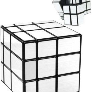 Hlavolam kostka stříbrná Mirror Cube 5,5cm zrcadlový povrch