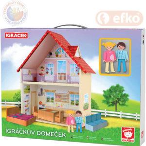 EFKO IGRÁČEK Igráčkův Domeček herní set se 2 figurkami STAVEBNICE