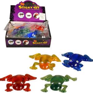 Žába měkká gumová 10cm v sáčku 5 barev