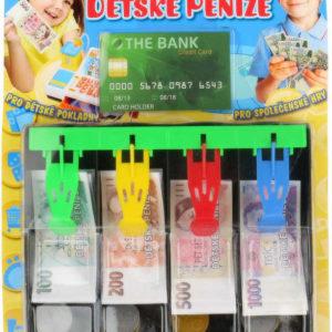 Set dětské české peníze pokladna zásuvka s penězi a kreditní kartou