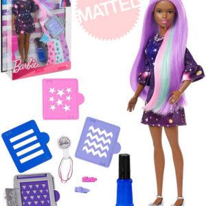 MATTEL BRB Panenka Barbie žužu kouzelné vlasy černoška set s doplňky