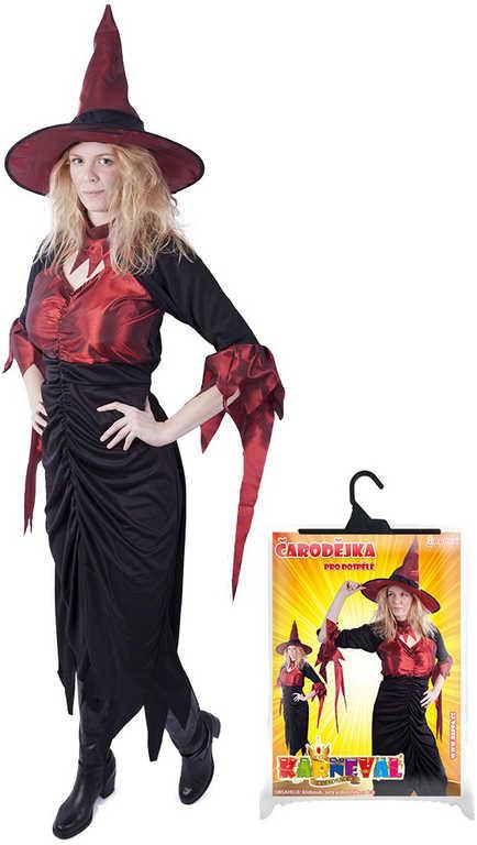 3032150e1 KARNEVAL Set šaty čarodějnice + klobouk dospělý vel.M KOSTÝM ...
