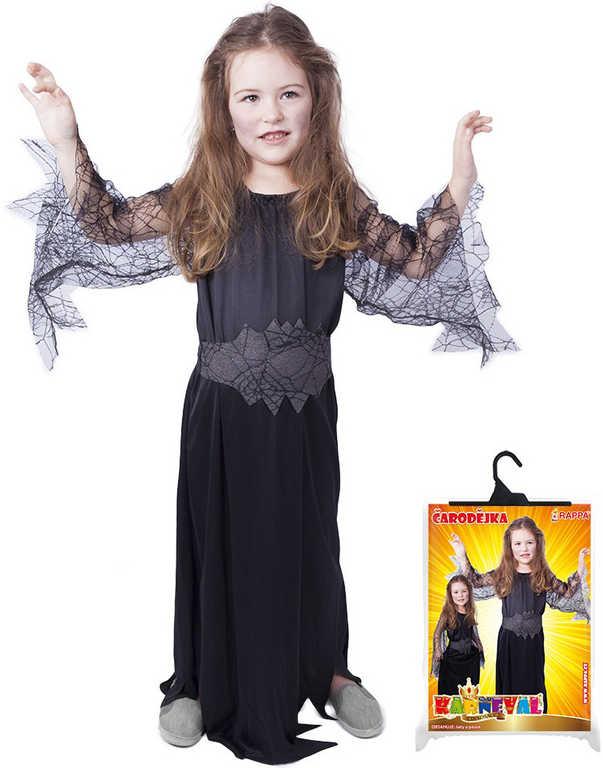 89dd09b14 ... 6-8 let KOSTÝM. KARNEVAL Šaty čarodějnice černá pavučina vel.M (116-128  cm) 6-