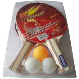 ACRA Sada na ping pong 2 pálky + 3 míčky Brother G9818/1