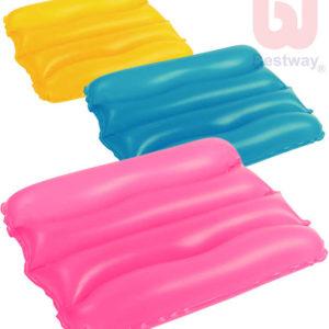 BESTWAY Nafukovací cestovní polštářek 38x25cm 3 barvy 52127