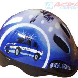 ACRA Helma cyklistická dětská Brother vel. XS modrá Policie CSH062