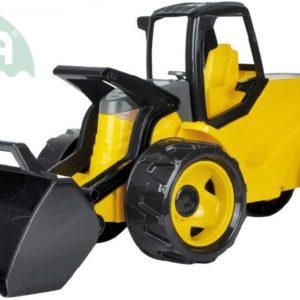 LENA Nakladač funkční žlutočerný buldozer 69cm odrážedlo plast