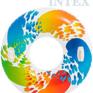 INTEX Kruh plavací s úchyty 122cm nafukovací dětské kolo do vody