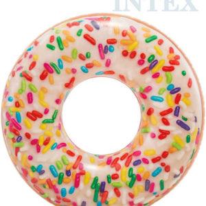 INTEX Kruh plavací donut barevný 114cm nafukovací dětské kolo do vody