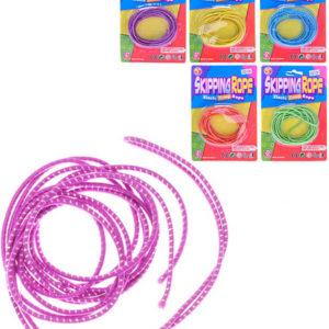 Lano pružné provaz na skákání 300cm skákací guma 6 barev