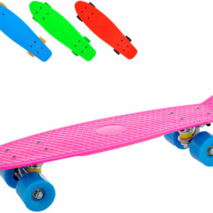 Skateboard dětský barevný 56cm plast 4 barvy