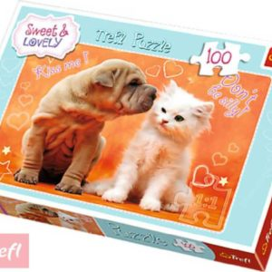TREFL PUZZLE 100 dílků Polibky a objetí Sweet & Lovely 116264