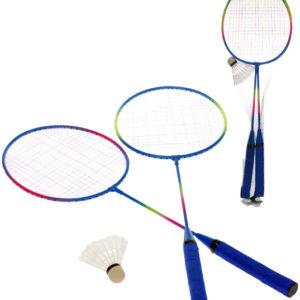 Badmintonové rakety 63cm 2-Play set 2ks s košíčkem v síťce