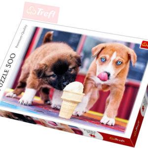 TREFL PUZZLE Foto Pejsci Čas na zmrzlinu 500 dílků 48x34cm 137272