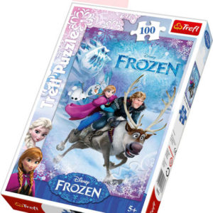TREFL PUZZLE Ledové Království Záchrana Anny 100 dílků 28x41cm 116273