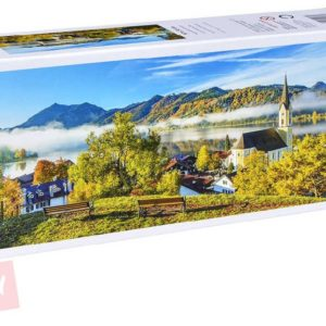 TREFL PUZZLE Panoramatické Jezero Schliersee 1000 dílků 97x34cm 129035