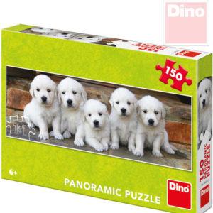 DINO Puzzle panoramatické 66x23cm Štěňátka 150 dílků v krabici