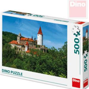 DINO Puzzle skládačka Křivoklát set 500 dílků 47x33cm v krabici