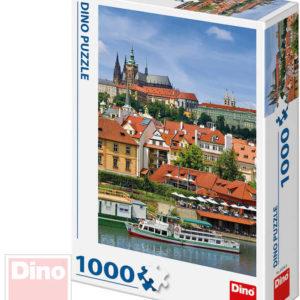 DINO Puzzle skládačka Pražský hrad set 1000 dílků 47x66cm v krabici