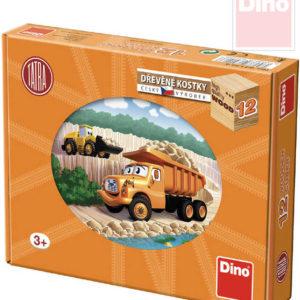 DINO DŘEVO Kubus Tatra kostky obrázkové 12ks v krabici 15x11cm