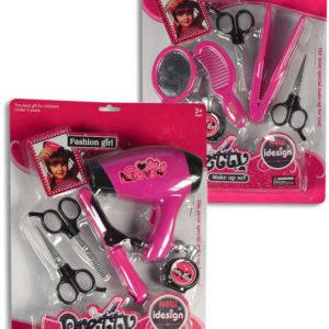 Souprava krásy kadeřnický set s fénem / žehličkou na vlasy na baterie 2 druhy