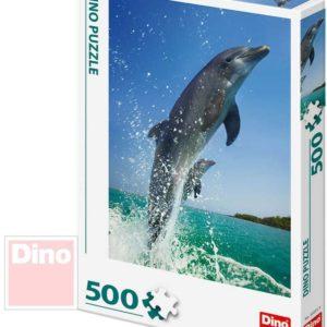 DINO Puzzle 500 dílků foto Delfíni 33x47cm skládačka v krabici