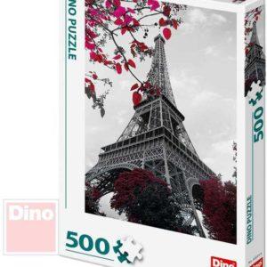 DINO Puzzle 500 dílků foto Pod Eiffelovou věží 33x47cm skládačka v krabici