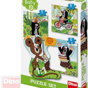 DINO Baby puzzle Krtek na louce (Krteček) 18x18cm 3v1 skládačka 12 dílků