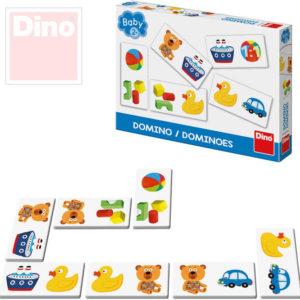 DINO Hra baby domino obrázkové pro miminko SPOLEČENSKÉ HRY