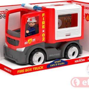 EFKO IGRÁČEK MultiGO FIRE auto hasiči multikorbička s řidičem