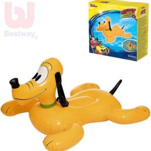 BESTWAY Disney Pluto nafukovací pes 117x107x45cm dětské vozítko do vody