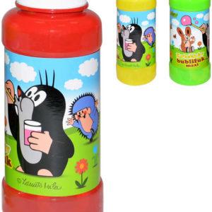 Bublifuk maxi 240ml Krtek (Krteček) bublifukovač v plastové láhvi 3 barvy