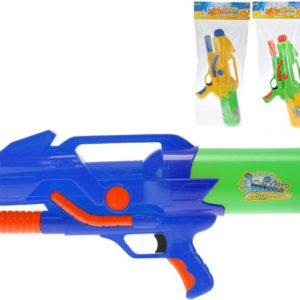 Pistole dětská vodní 55cm se zásobníkem na vodu 3 barvy v sáčku