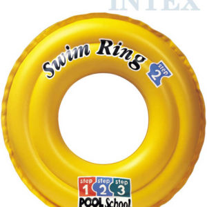INTEX Kruh plavací DeLuxe 51cm nafukovací oranžové kolo do vody