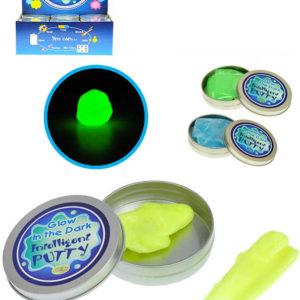 Chytrá hmota v plechovce svítící inteligentní plastelína Intelligent Putty 3 barvy