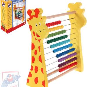 WOODY DŘEVO Počítadlo žirafa rainbow duhové DŘEVĚNÉ HRAČKY