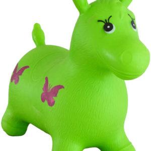 Hopsadlo dětské kůň skákací gumový zelený 49x43x28cm v sáčku