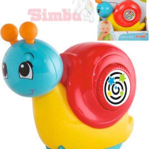 SIMBA Baby šnek 13cm zmáčni a jeď na kolečkách pro miminko plast