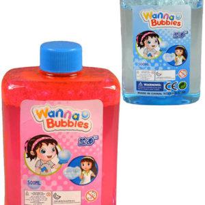 Náplň náhradní do bublifuku 500ml v plastové láhvi 2 barvy