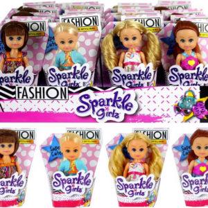 Panenka v kornoutu 10cm Sparkle Girlz Fashion modní obleček 4 druhy